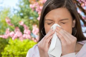 Frau Allergie Taschentuch
